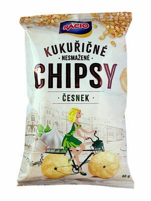 chipsy kukuřičné - česnek