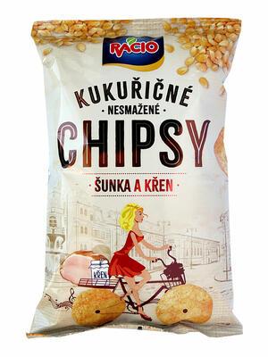 chipsy kukuřičné - šunka a křen